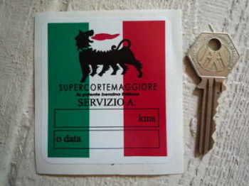 """Supercortemaggiore Tricolor Service Sticker. 3""""."""