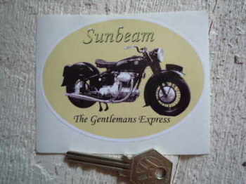 "Sunbeam Bike 'The Gentlemans Express' Sticker. 4""."