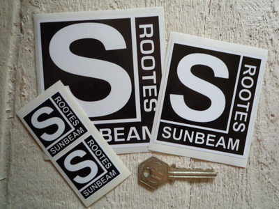Sunbeam Rootes Classic Stickers. 1.5