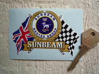Sunbeam Rootes Group Flag & Scroll Sticker. 4