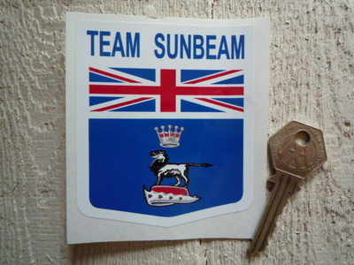 Team Sunbeam Shield Sticker. 3