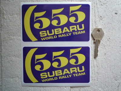 Subaru 555 World  Rally Team Stickers. 5.75