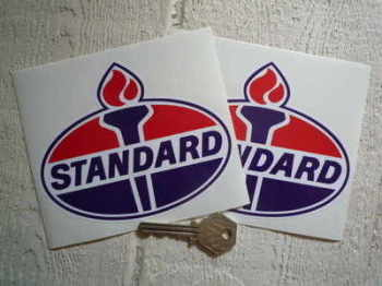 "Standard Oil Torch Stickers. 5"" Pair."