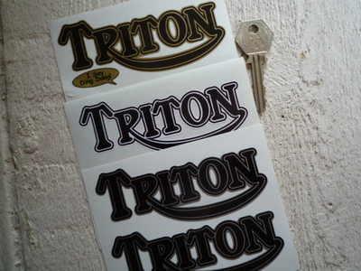 Triton Shaped Text Stickers. 4.5