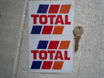 "Total Fuel Stripes Stickers. 4"" Pair."