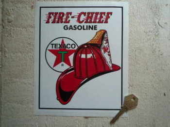 "Texaco Fire Chief Oblong Sticker. 6""."