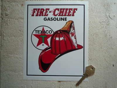 Texaco Fire Chief Oblong Sticker. 6