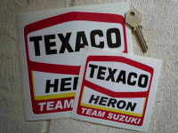 "Texaco Heron Suzuki Stickers. 2"", 4"", or 6"" Pair."