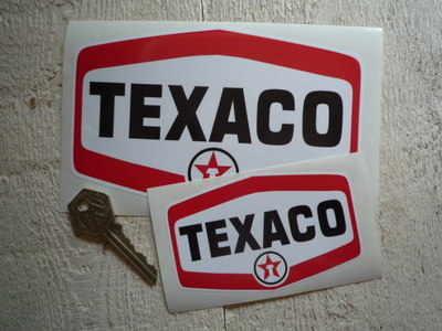 Texaco Star'd Text Logo Stickers. 4