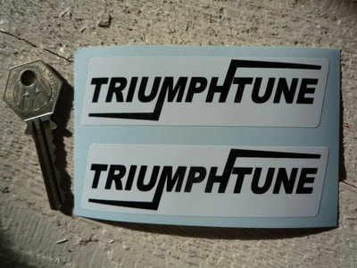 Triumphtune Black & White Oblong Stickers. 4