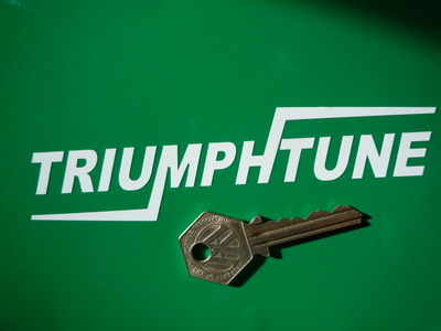 Triumphtune Cut Vinyl Stickers. 5.5
