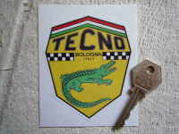 Tecno Bologna Italy Shield Sticker. 3