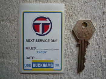 "Talbot & Duckhams Service Sticker. 3""."