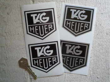 "Tag Heuer Stickers. 3"" Pair."