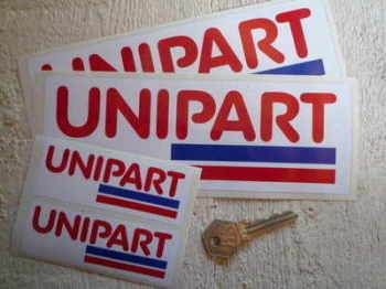 "Unipart Striped Oblong Stickers. 4"" or 8"" Pairs."
