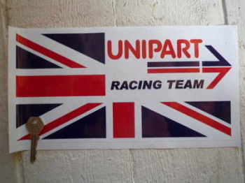 "Unipart Racing Team Union Jack Sticker. 12""."