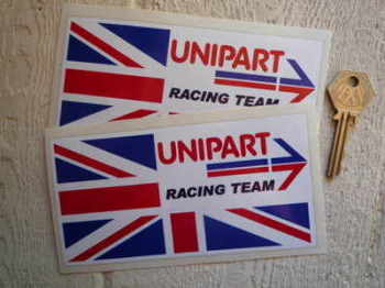 "Unipart Racing Team Union Jack Stickers. 6"" Pairs."