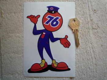 "Union 76 Cheeky Chappy Sticker. 6"" or 10""."