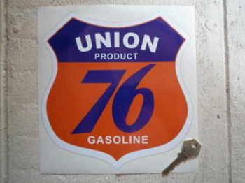 """Union 76 Gasoline Shield Sticker. 8""""."""