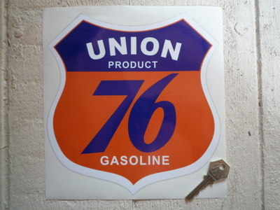 Union 76 Gasoline Shield Sticker. 8