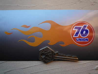 """Union 76 Handed Flame Stickers. 5.5"""" Pair."""