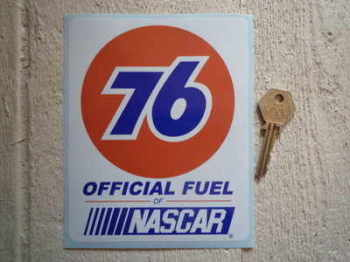 "Union 76 Official Fuel of Nascar Sticker. 5""."