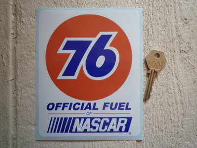 """Union 76 Official Fuel of Nascar Sticker. 5""""."""