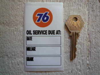 "Union 76 Oil Service Sticker. 3.5""."