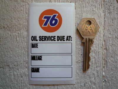 """Union 76 Oil Service Sticker. 3.5""""."""