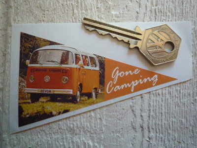 VW Volkswagen 'Gone Camping' Travel Sticker. 4
