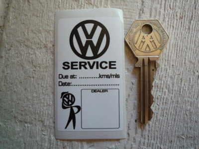 VW Volkswagen Black & White Service Sticker. 1.5