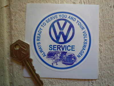 VW Volkswagen Service Window Sticker. 3