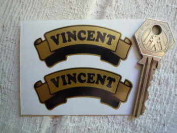 "Vincent Gold Scroll Stickers. 2.5"" Pair."