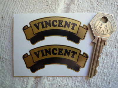 Vincent Gold Scroll Stickers. 2.5