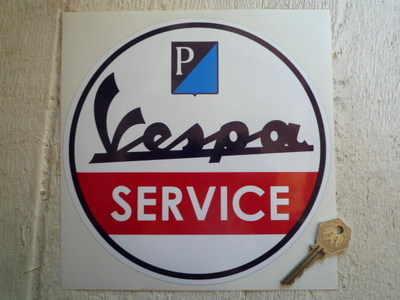 Vespa Piaggio Circular Service Sticker. 8
