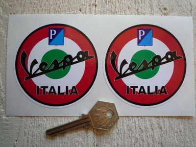 Vespa Piaggio Italia Roundel Stickers. 3