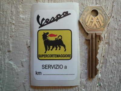 Vespa Supercortemaggiore Service Sticker. 1.5