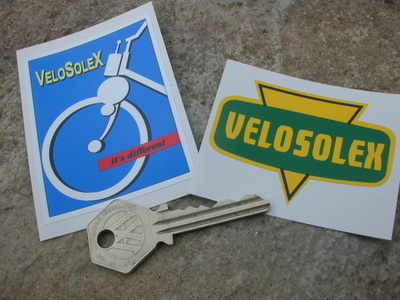 VeloSolex French Moped Stickers. Set of 2.
