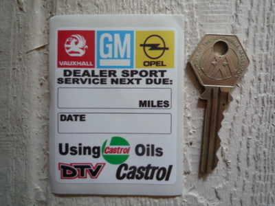 Vauxhall Dealer Team & Opel Service Sticker. 2