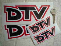 """Vauxhall Dealer Team DTV Text Stickers. 4"""" or 8"""" Pairs."""