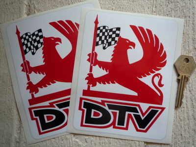 Vauxhall Dealer Team DTV Griffin Logo Stickers. 4.5
