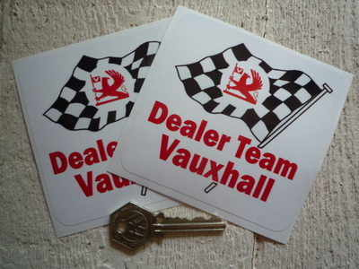 Vauxhall Dealer Team DTV Wavy Flag Stickers. 4