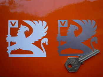 "Vauxhall Griffin Cut Stickers. 3"" Pair."