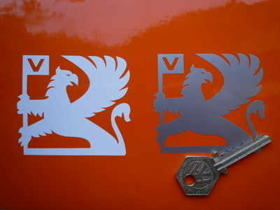 Vauxhall Griffin Cut Stickers. 3