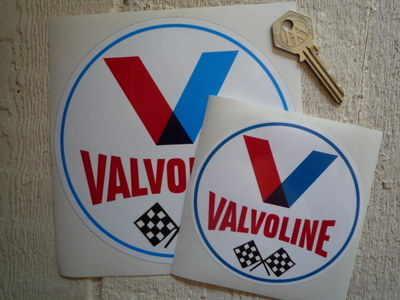Valvoline Old Style Round Stickers. 4