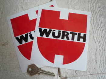 "Wurth Shaped Racing Stickers. 4"" or 5"" Pair."