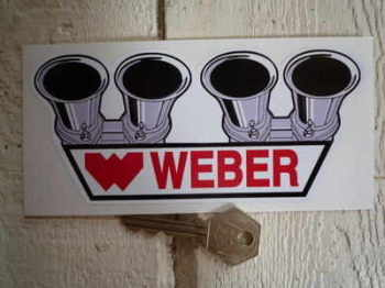 "Weber Carburetor Shaped Sticker. 6""."