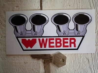 Weber Carburetor Shaped Sticker. 6