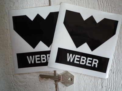 Weber 'W' Black & Clear Stickers. 4