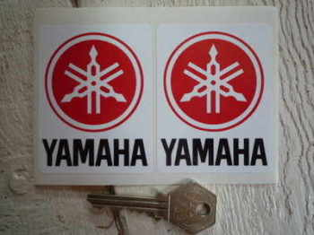 "Yamaha Logo Stickers. 2.25"" Pair."